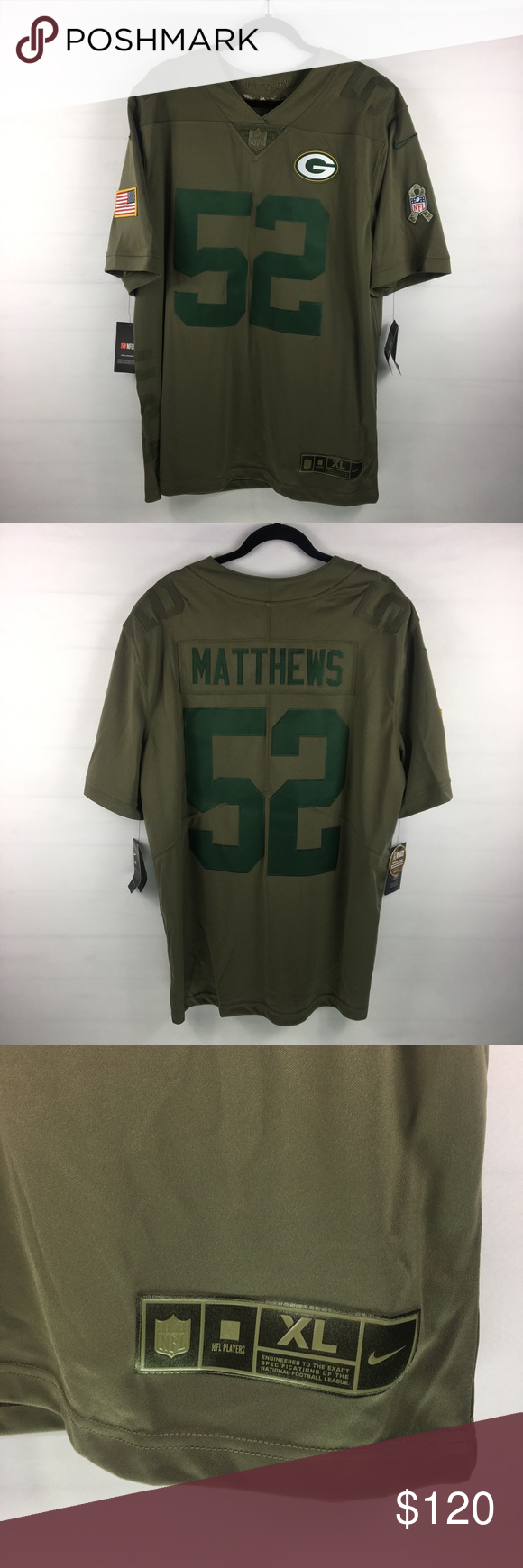 reputable site 73541 b2c9d Nike salute to service Clay Matthews Jersey NFL Brand new ...