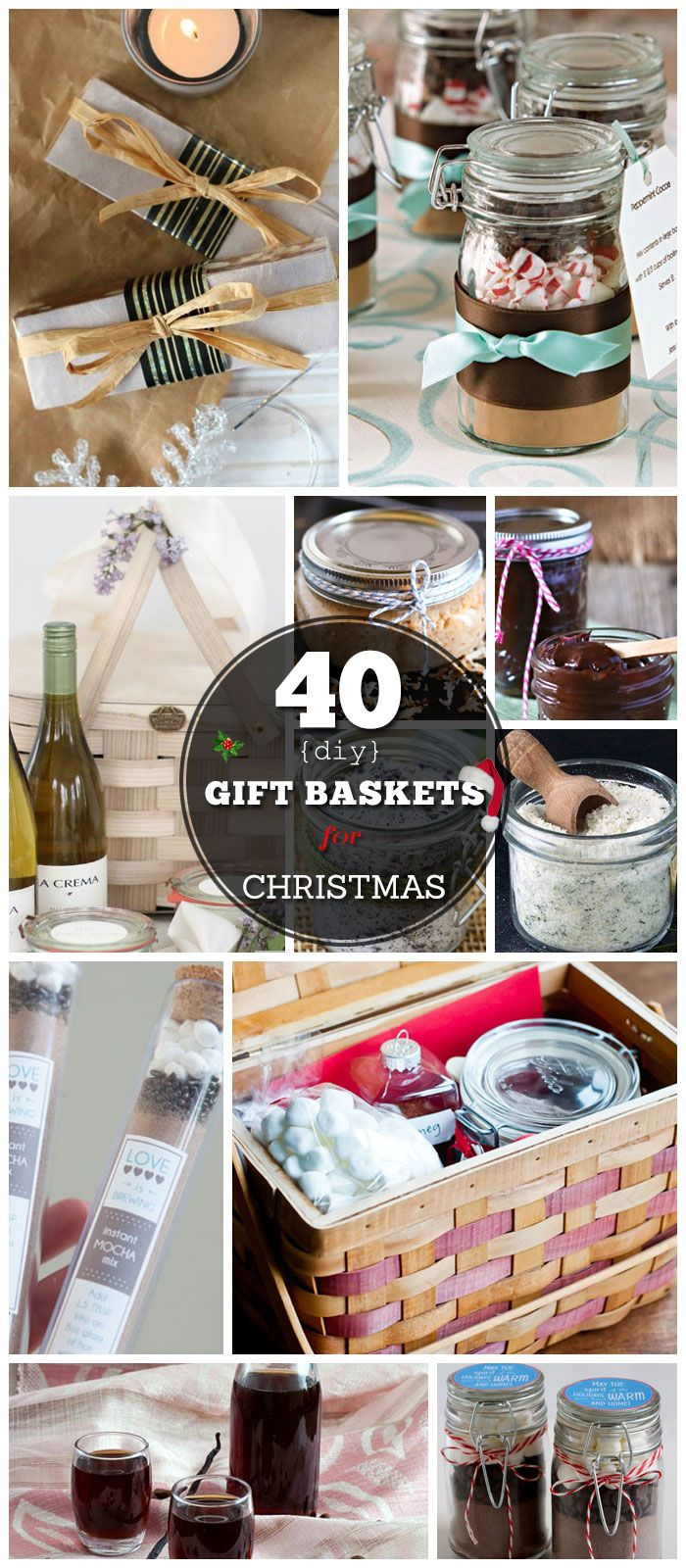 26 DIY Gift Basket Ideas for Christmas | DIY gift ideas | Pinterest ...