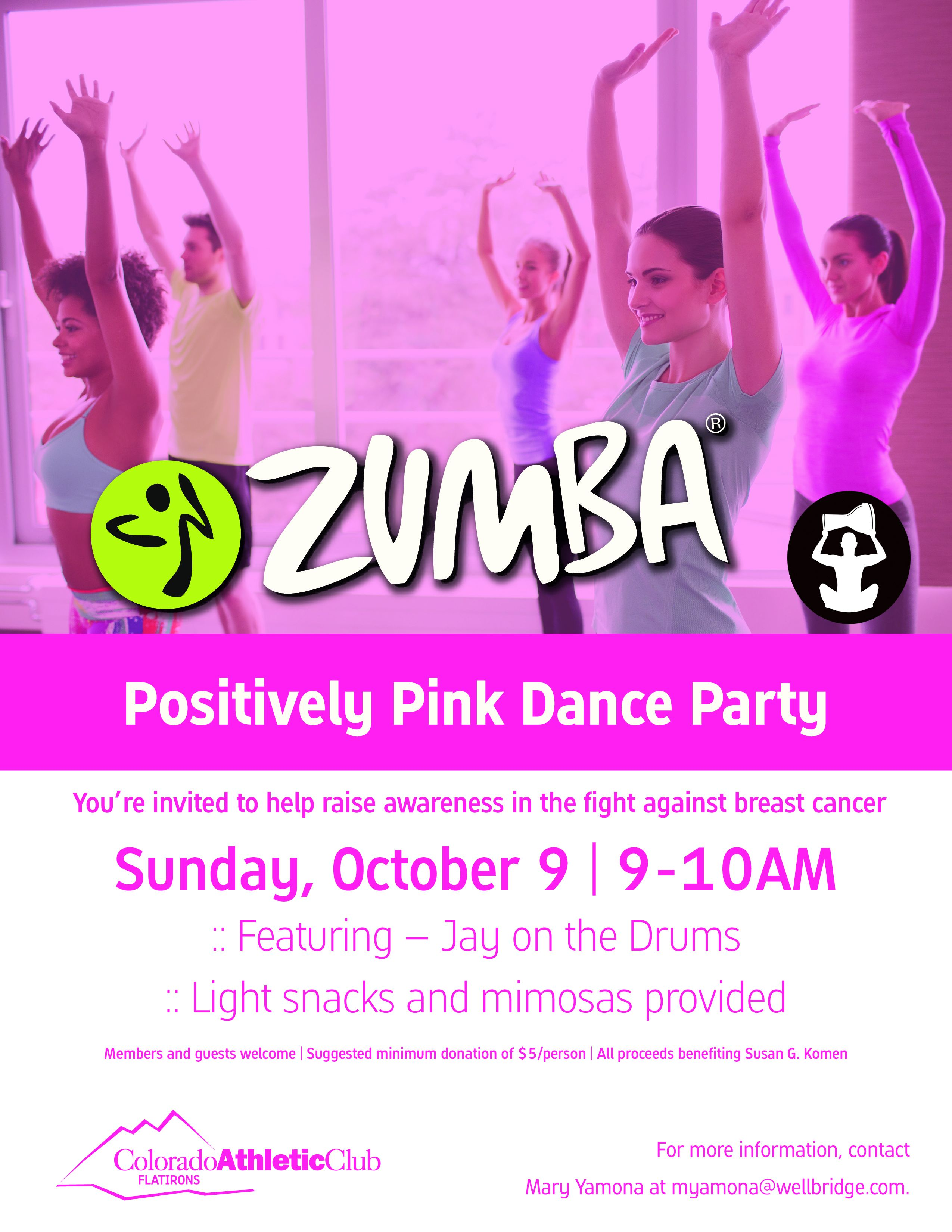 Positively Party In Pink Dance Party Zumba With Live Drums Boulder Co Zumba Dance Party Dance