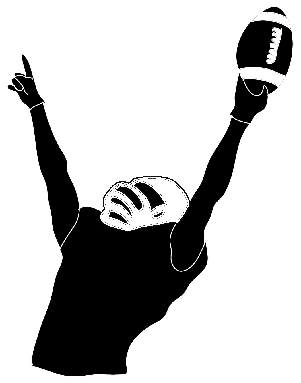 hight resolution of victory football player
