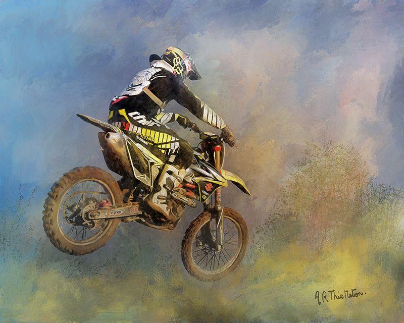 Dirt Bike Rider Digital Painting
