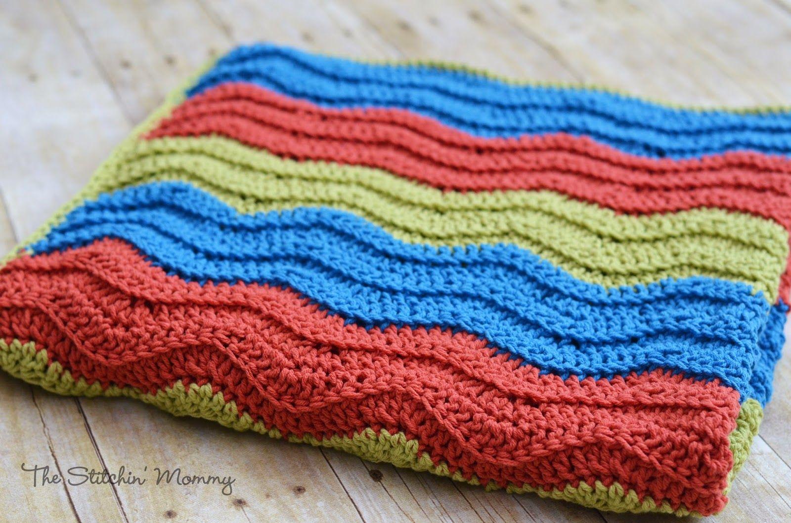 Easy Crochet Ripple Blanket   Crochet ripple blanket, Crochet ripple ...