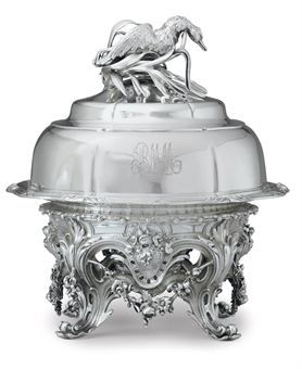 french 19th century silver soup tureen | FRENCH SILVER AND SILVER PLATE SOUP TUREEN