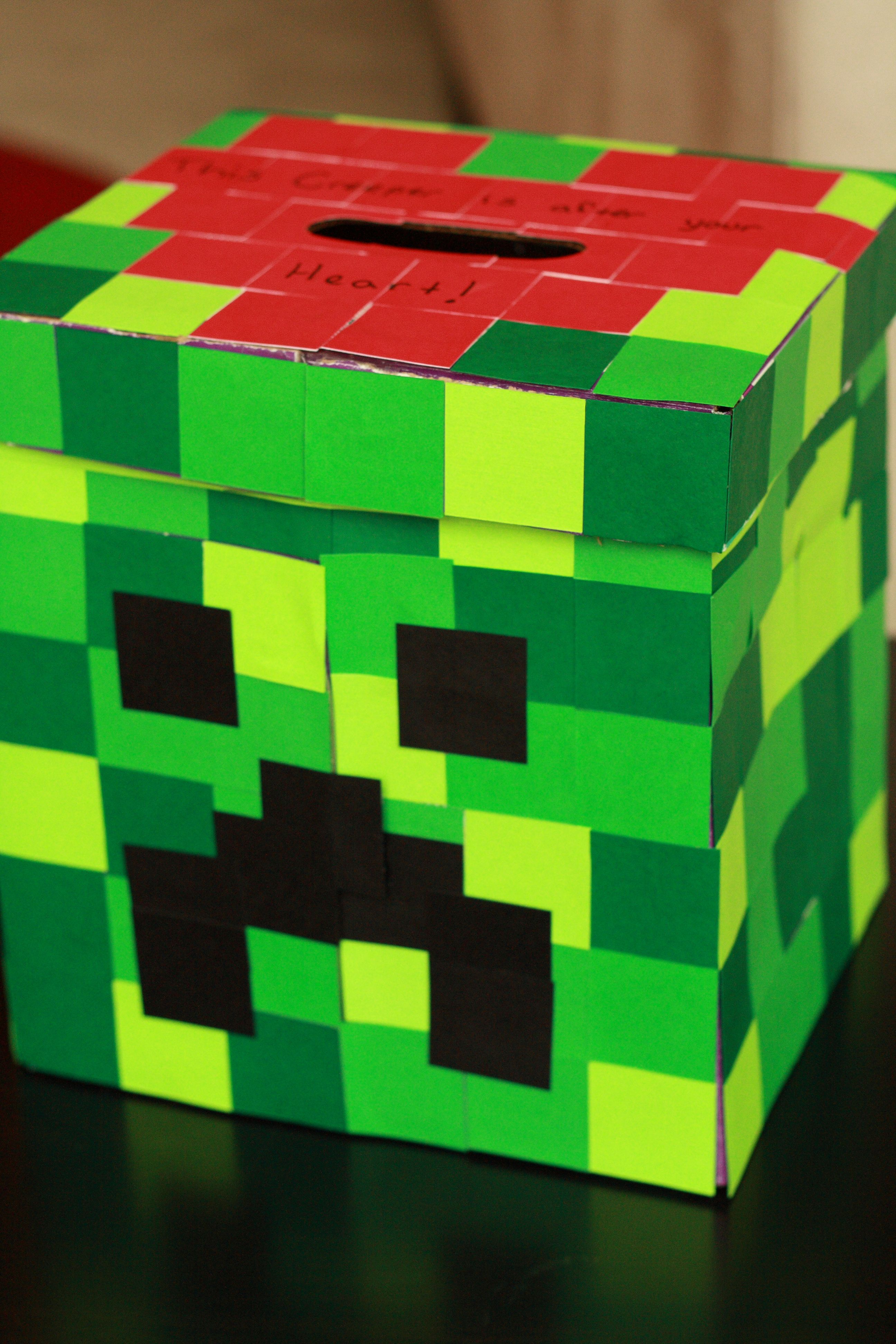 creeper valentines day box - Valentines Day Boxes For Boys