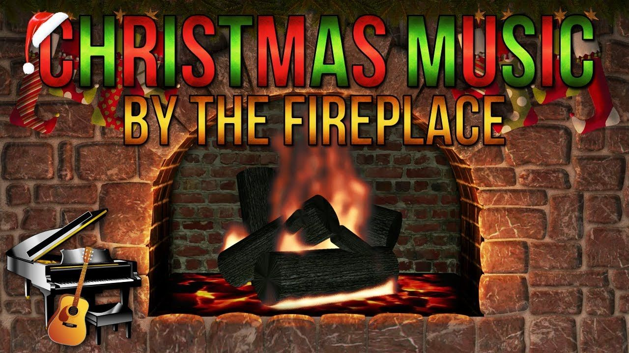 Christmas Music with Yule Log Fireplace - Guitar & Piano ...