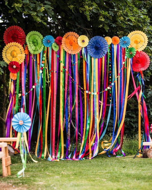 67e5b5405d0 Fiesta theme party mexican ideas 30 - YS Edu Sky. Ribbon ceremony backdrop.  Hayley Pettit Photography  wedding  decorations