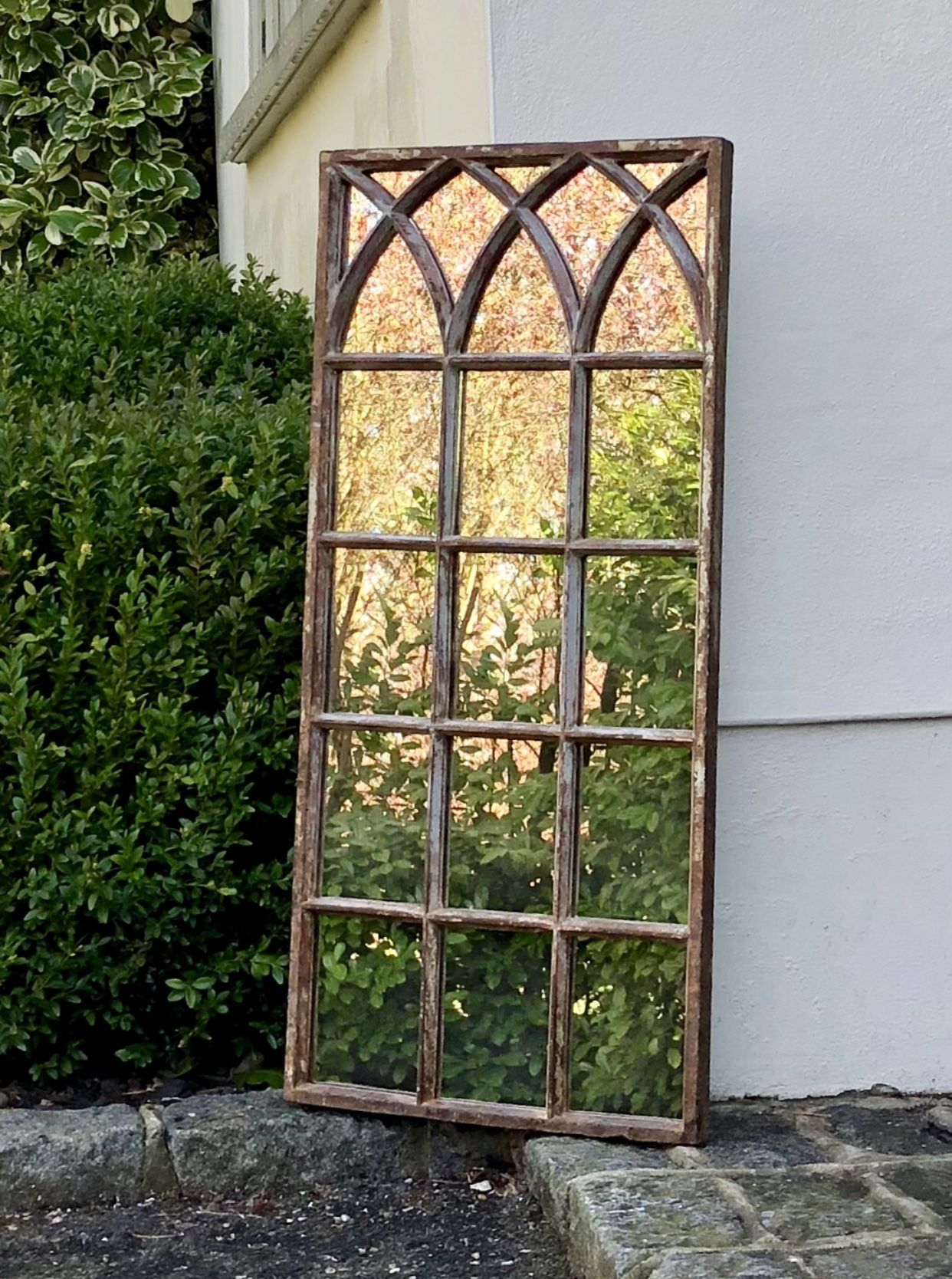 Vintage Window Mirror Home And A Garden Feature Garden Mirrors Garden Features Window Mirror