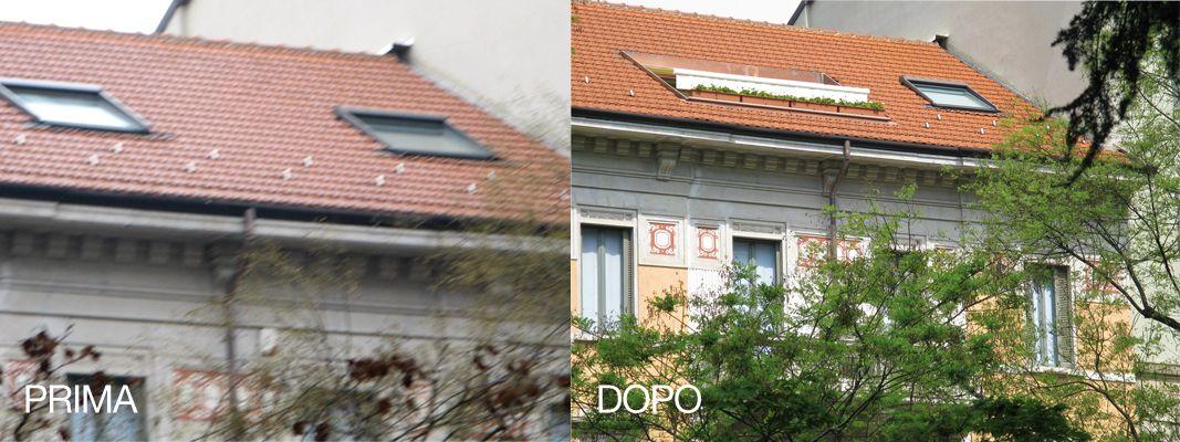 Terrazzo nel tetto più luce in casa e uno spazio esterno