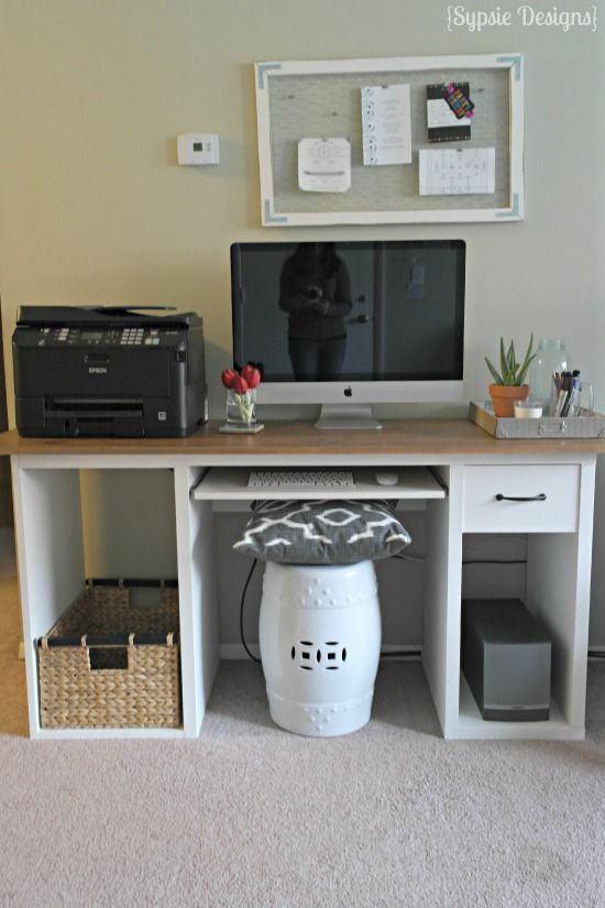 ikea office makeover. IKEA Hack To Rustic Desk - Sypsie Designs Ikea Office Makeover T