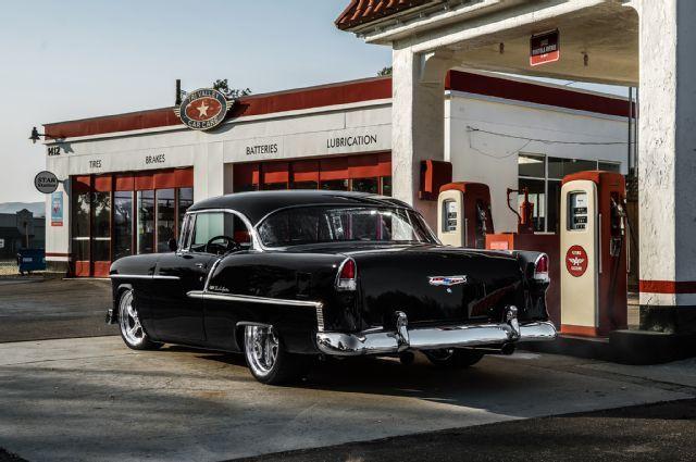 1955 Chevy Tri Five George Barby Black Restomod 572