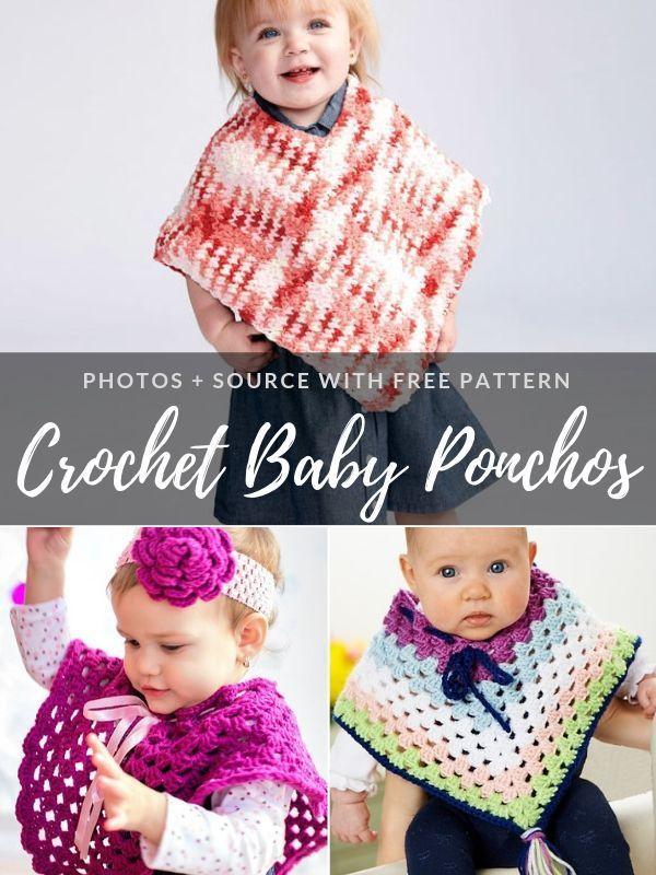 Crochet Baby Ponchos Free Patterns #babyponcho