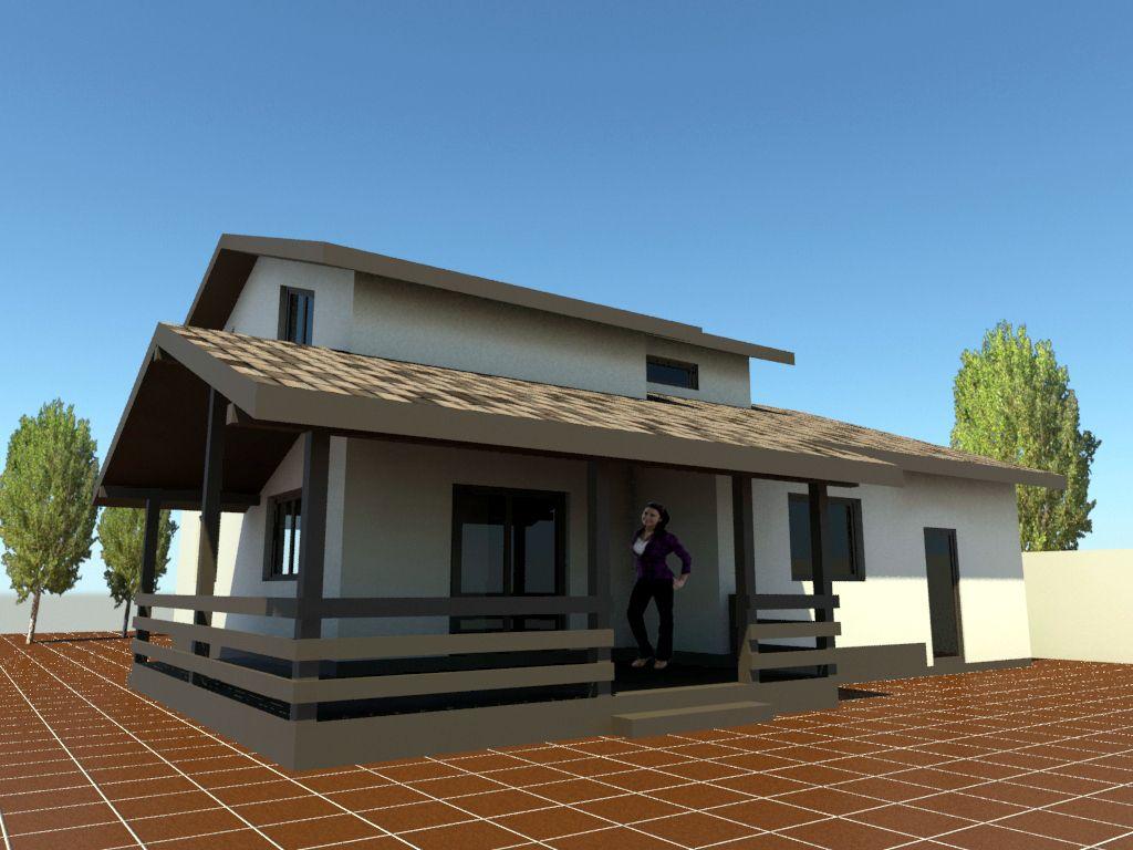 Proiecte case mici cu mansarda si terasa c utare google for Case cu mansarda mici