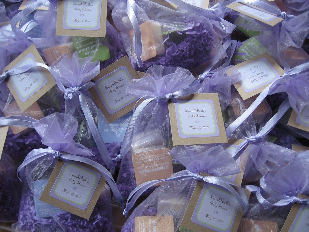 Items Similar To 50 Custom Wedding Shower Guest Favors Large Organza Bag With 3 Soap Samples In Your Choice Of Scents Tag And Label On Etsy