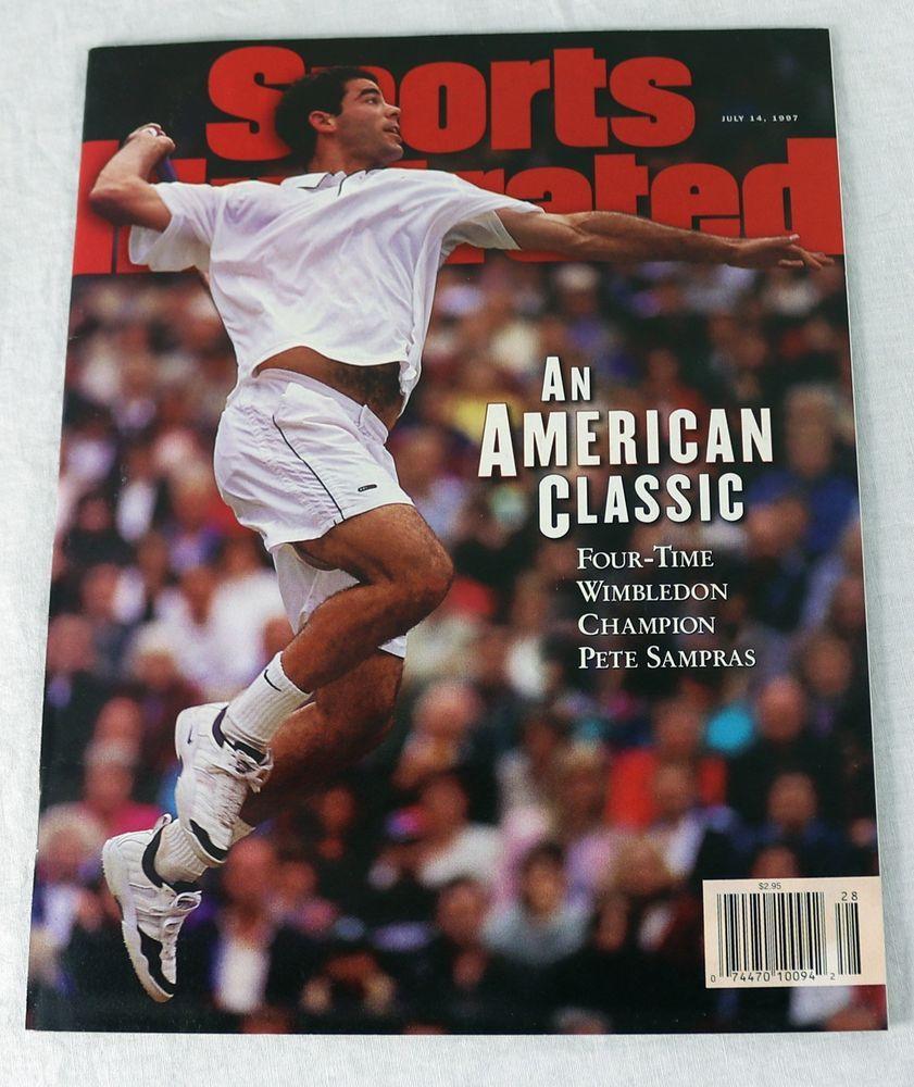 Sports Illustrated Magazine Pete Sampras July 1997 Pete