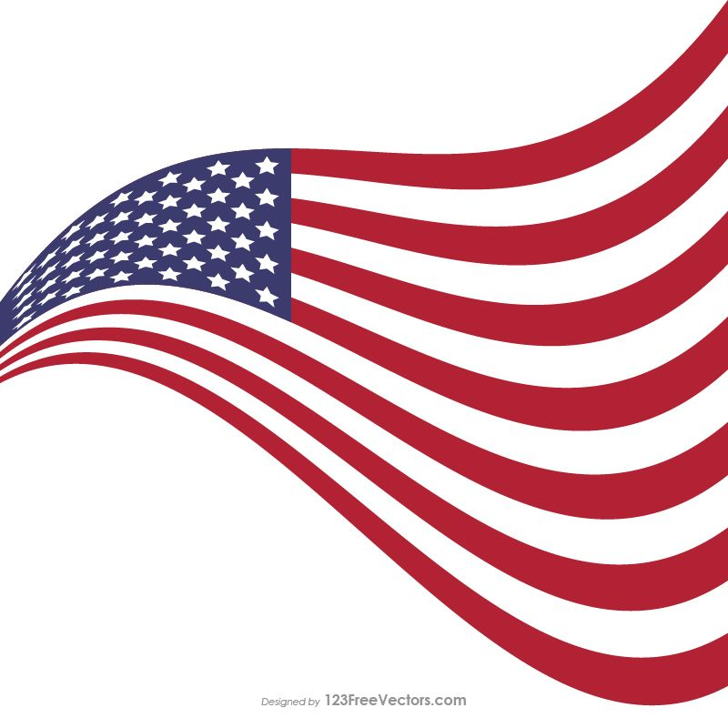 0875d7b8086 Waving American Flag Illustrator Vector Free Download