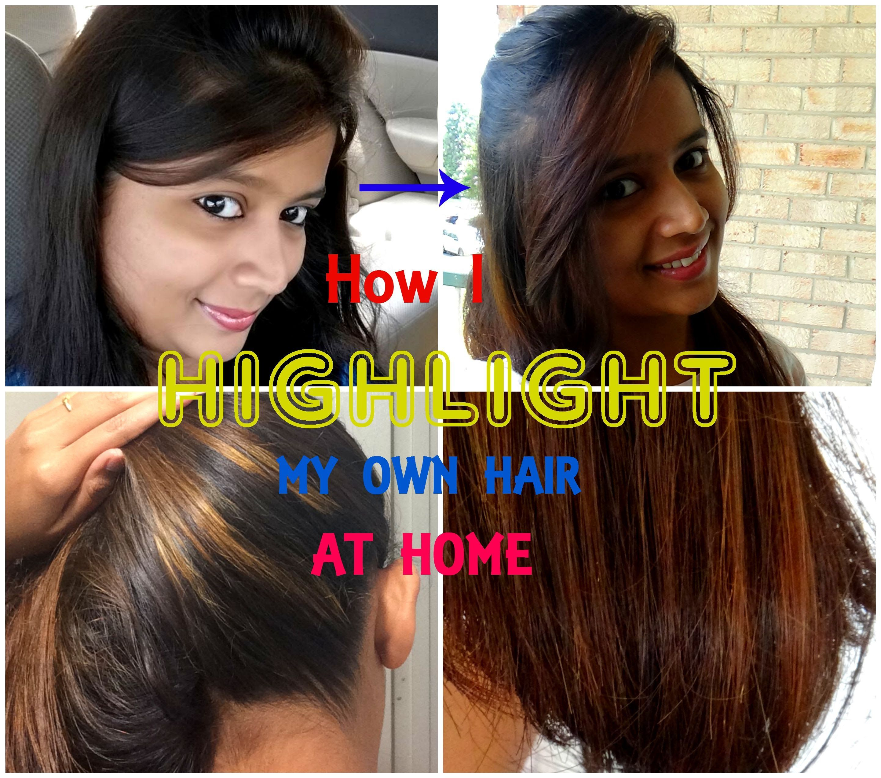 How To Highlight Your Own Hair At Home With Garnier Nutrisse Sensationalsupriya Youtu Highlight Your Own Hair Garnier Hair Color Black Hair With Highlights