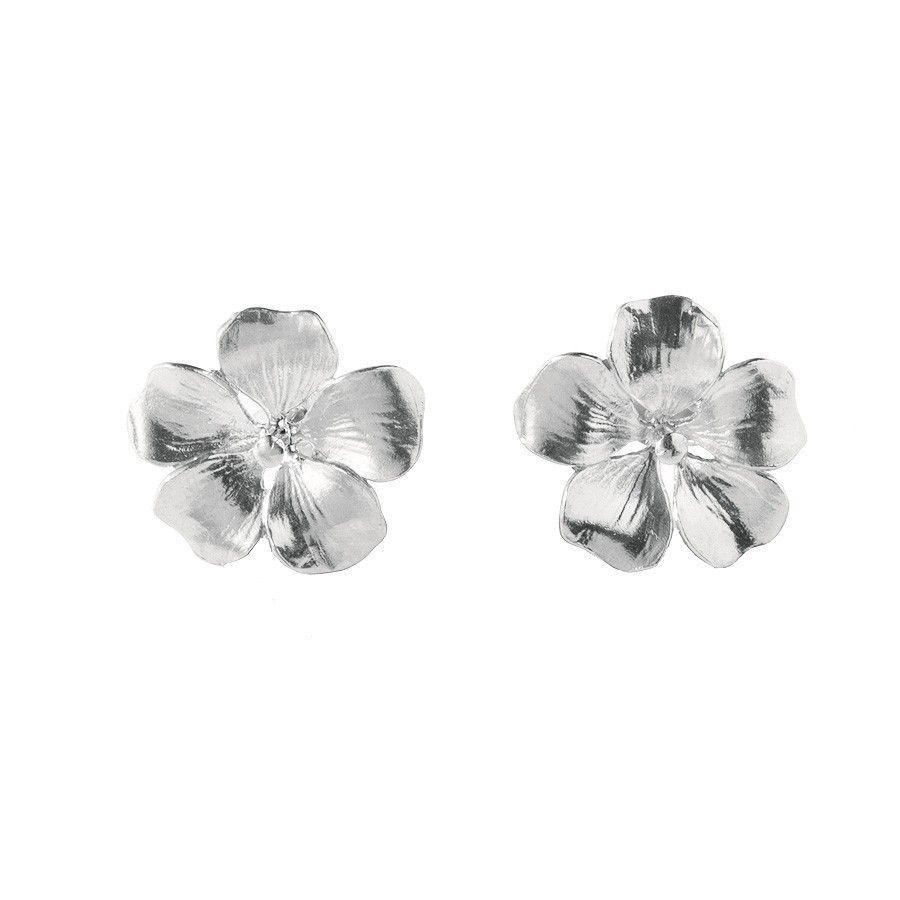 Alex Monroe Silver Pomegranate Flower Stud Earrings 108