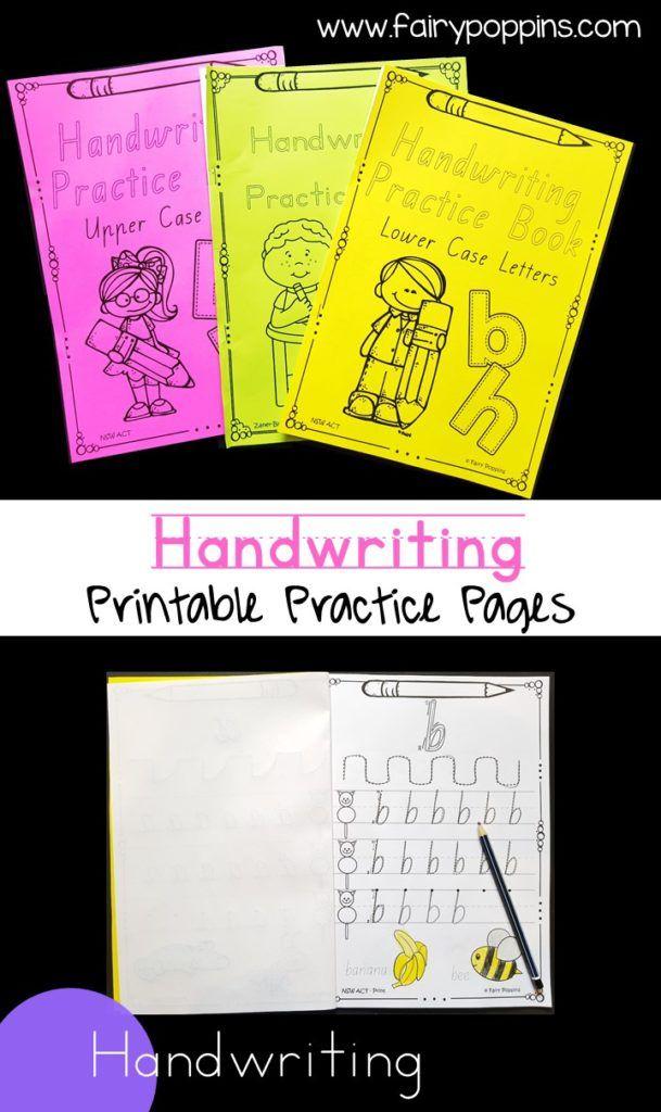 Handwriting Activities Pinterest School Fonts Handwriting