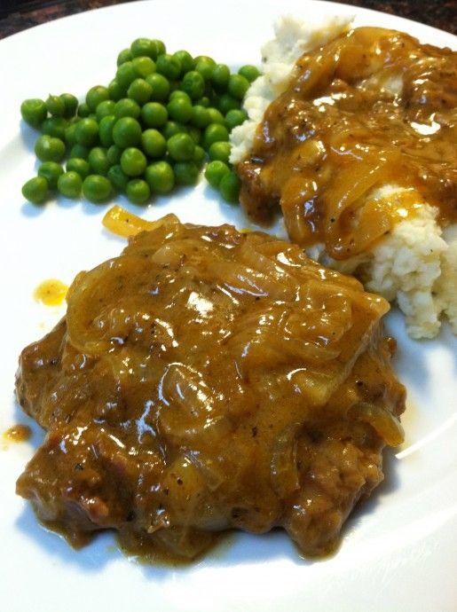 Onion Gravy Cubed Steak Craving Cobbler Recipe Cubed Steak Beef Recipes Meat Recipes