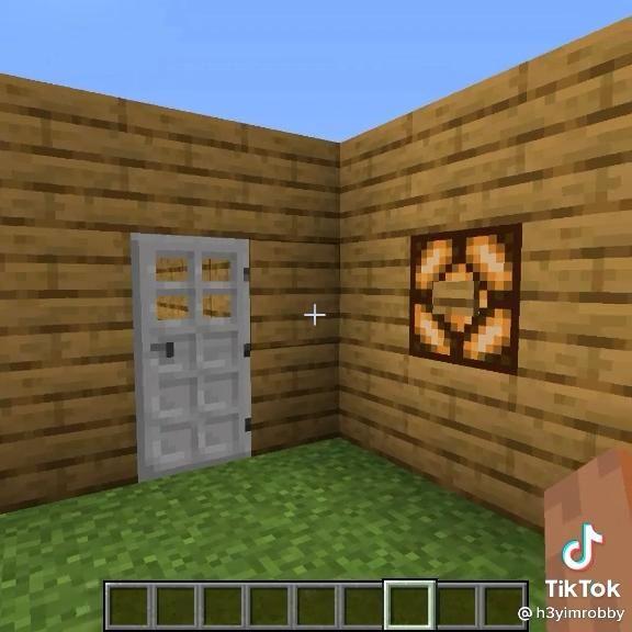 how to make a functional minecraft door bell