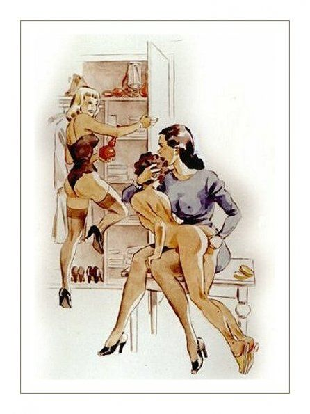 Femdom drawings color artists german