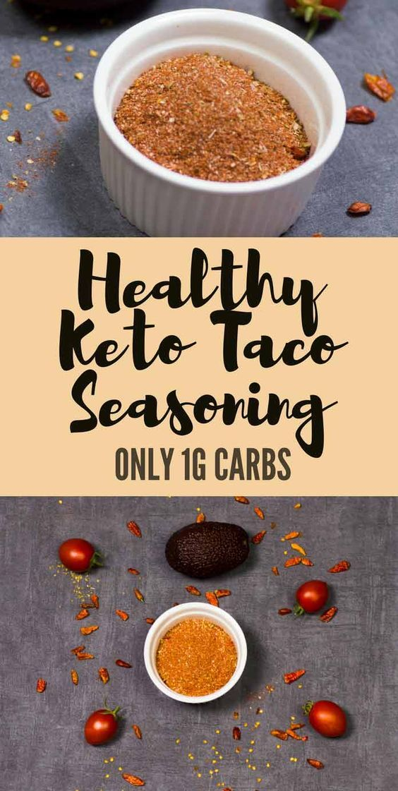 Healthy Keto Taco Seasoning – Sugar-free, Low Carb & Gluten Free #diytacoseasoning