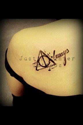 Harry Potter Deathly Hallows Brueder Symbol Always Tattoo By