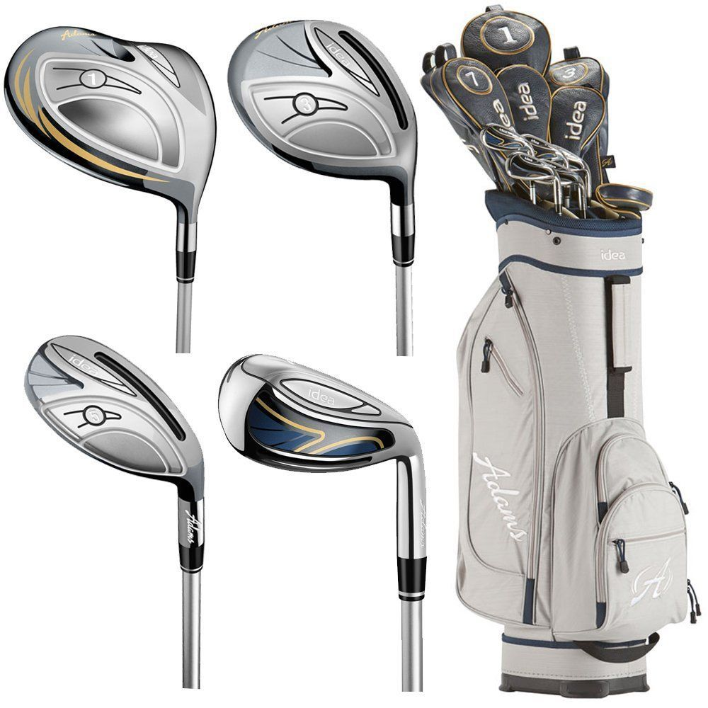 Featuring Never Before Seen Wrap Around Slots In Irons These Womens New Idea Complete Golf Club Sets By Ad Golf Clubs Ladies Golf Clubs Golf Accessories Ladies