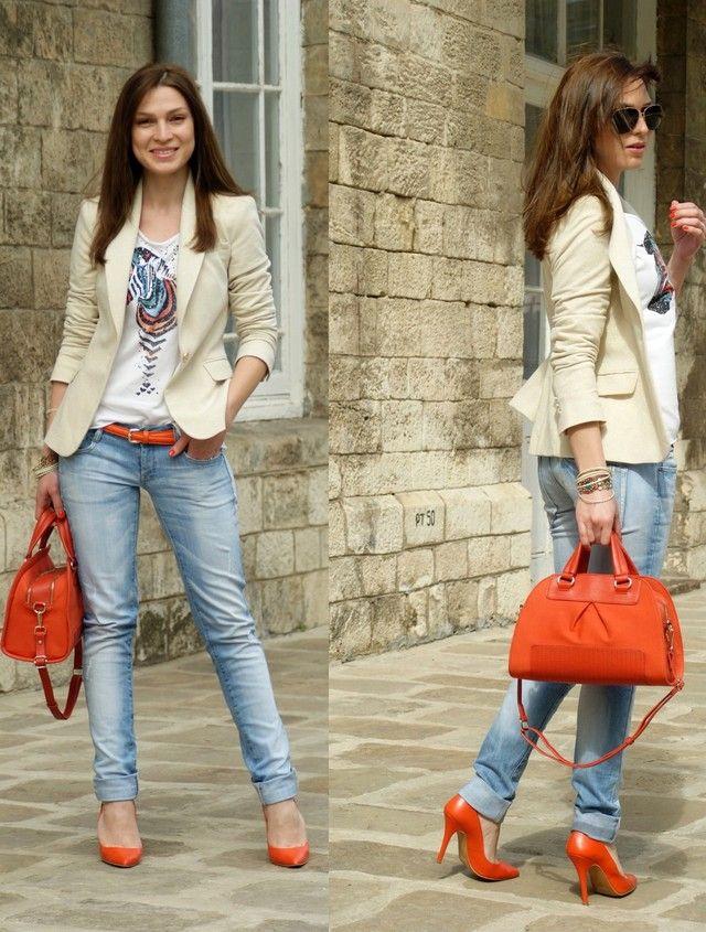 Zapatos naranjas casual para mujer TCOVmv