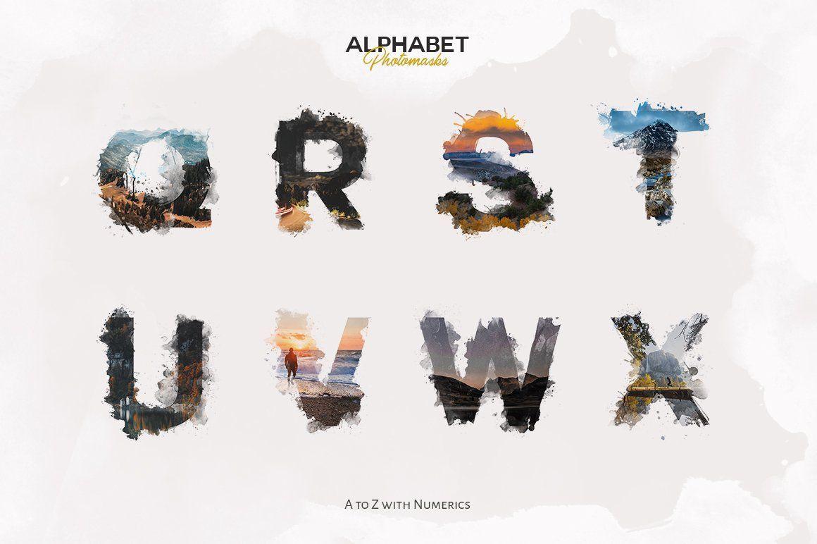 Alphabet Masks Stories Watercolor By Ezalor On Creativemarket