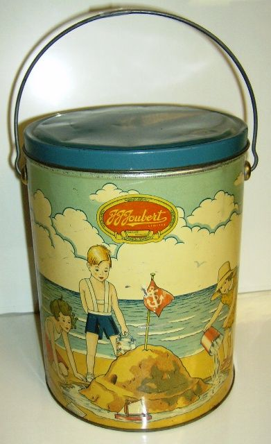 1 Gallon Ice Cream Container Designed To Be Used As A Childs Sandpail When Empty Vintage Tins Antique Toys Antiques