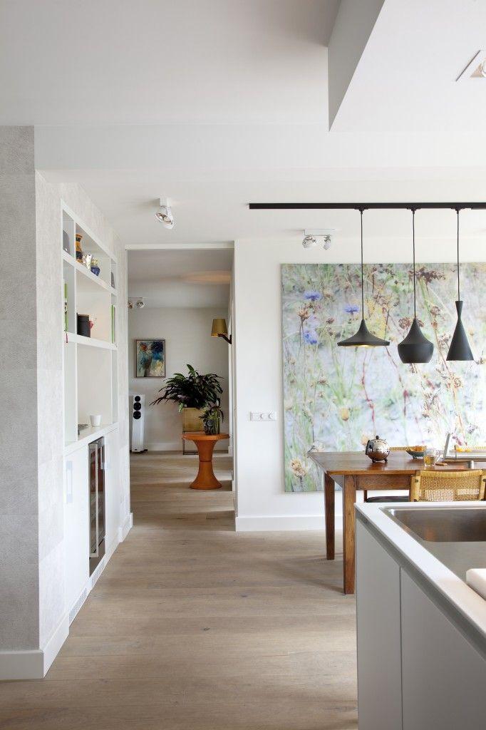 Keuken met doorkijk naar woonkamer - Interieur design woonhuis ...