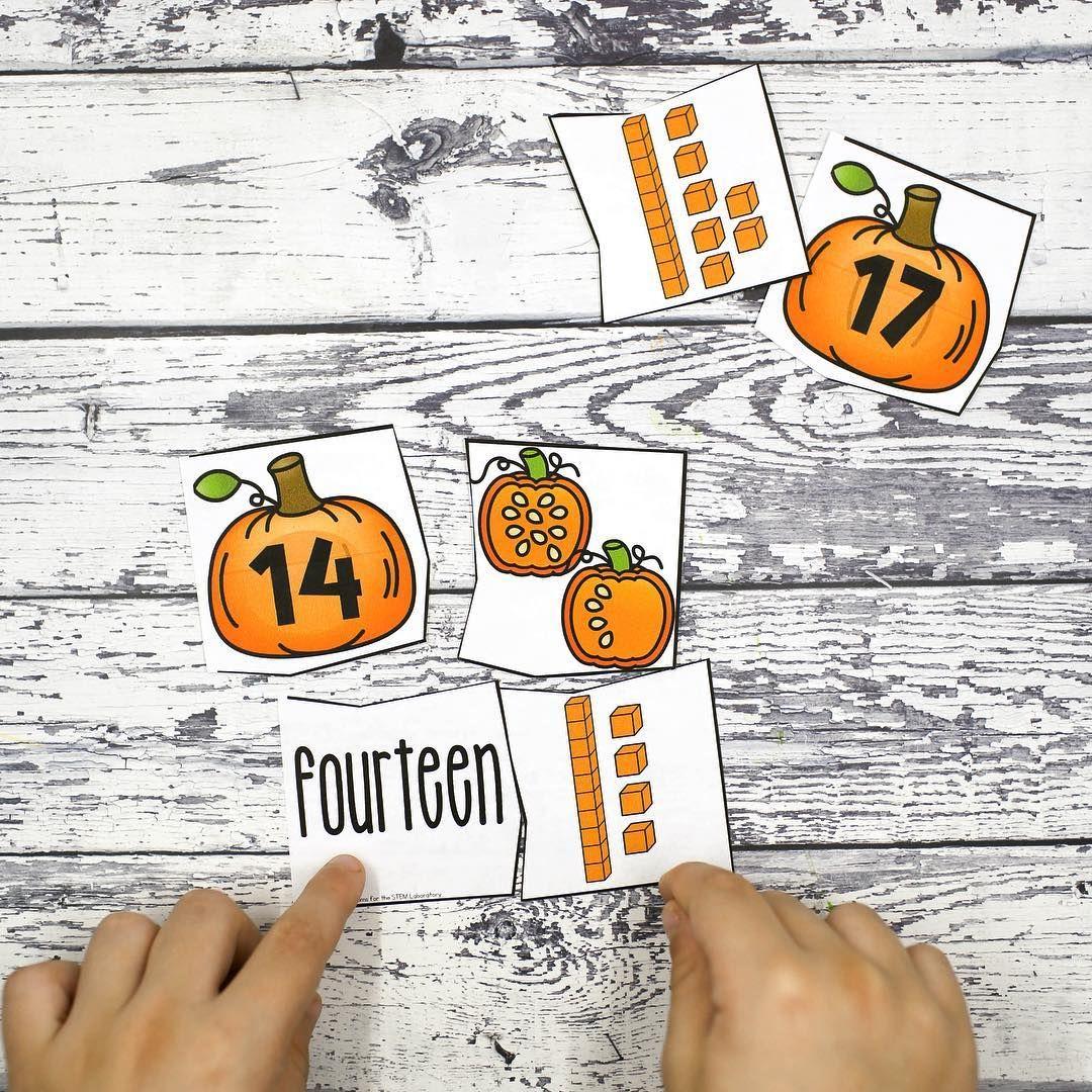 Pumpkin Counting Mat