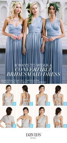 9b13662347b 8 ways to style the Versa convertible dress from David's Bridal—add your  own personal twist!