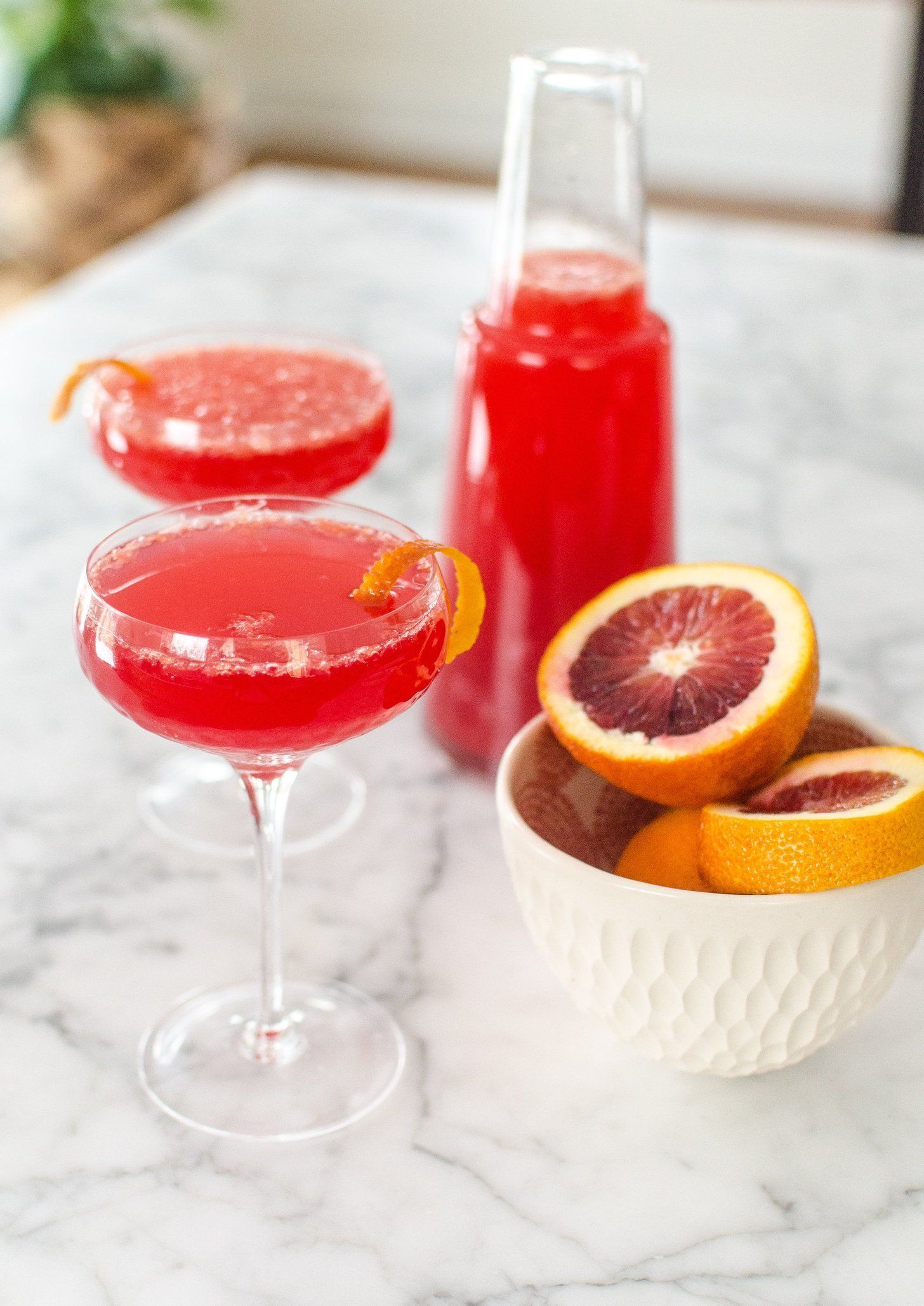 Blood Orange Mimosa Pitcher Cocktail Recipe Blood Orange Cocktail Batch Cocktail Recipe Cocktail Recipes