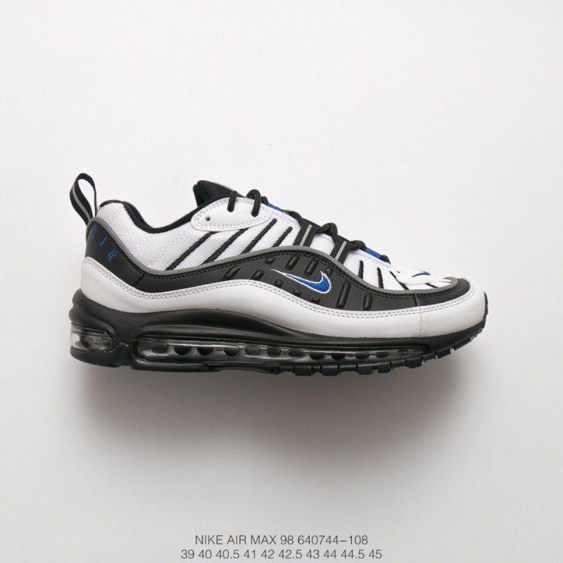 6526d47df5 Nike Air Max 98 Gundam White Black Blue Vintage Sports Racing Shoes ...