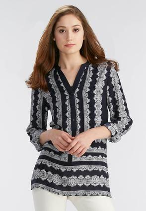 0ceaae297a9c3a Cato Fashions Scalloped Lace Print Tunic-Plus #CatoFashions ...