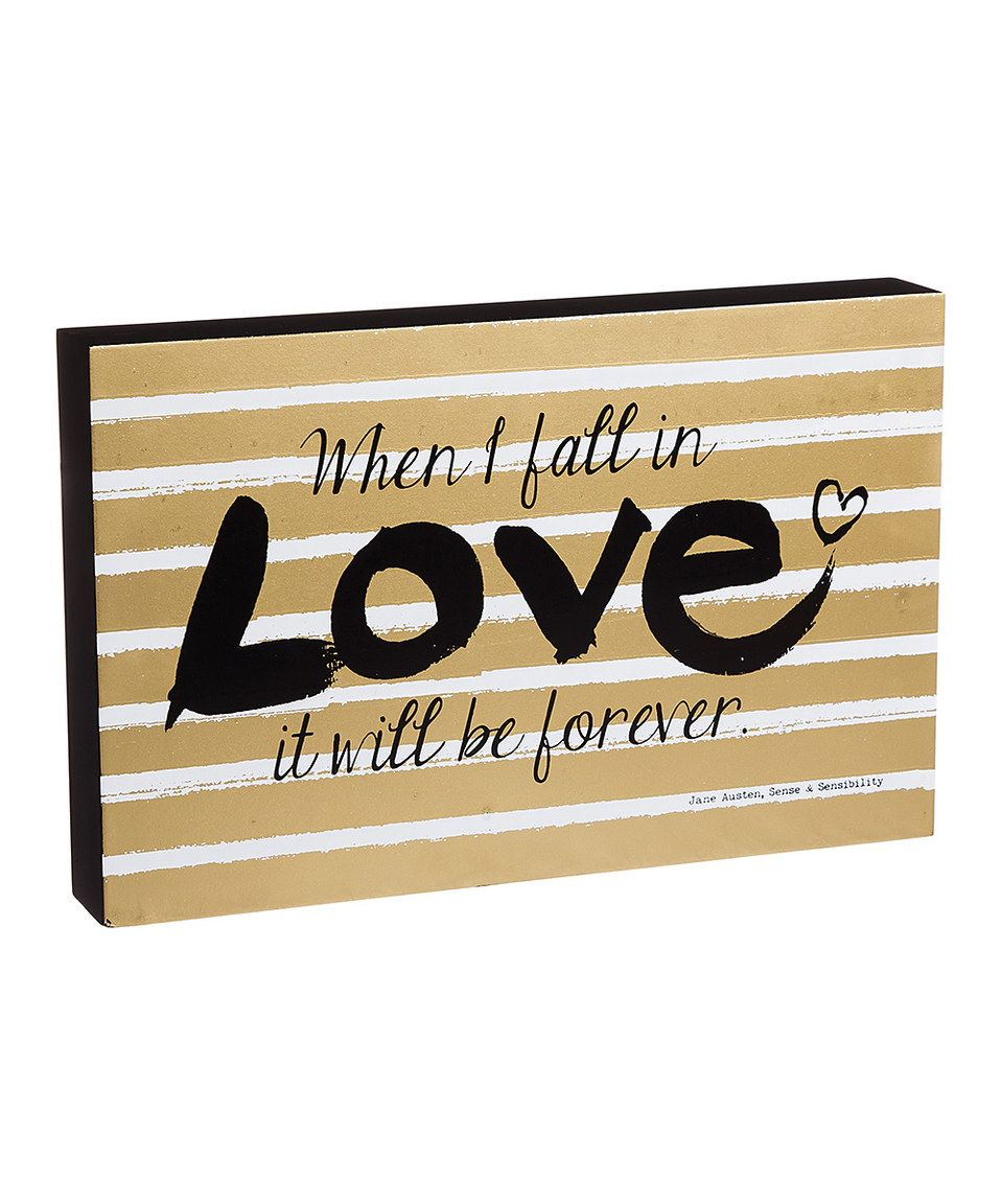 Loving this 'When I Fall in Love' Block Sign on #zulily! #zulilyfinds