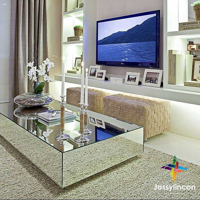 Mirror Coffee Table … | Home, Mirrored coffee tables, Decor