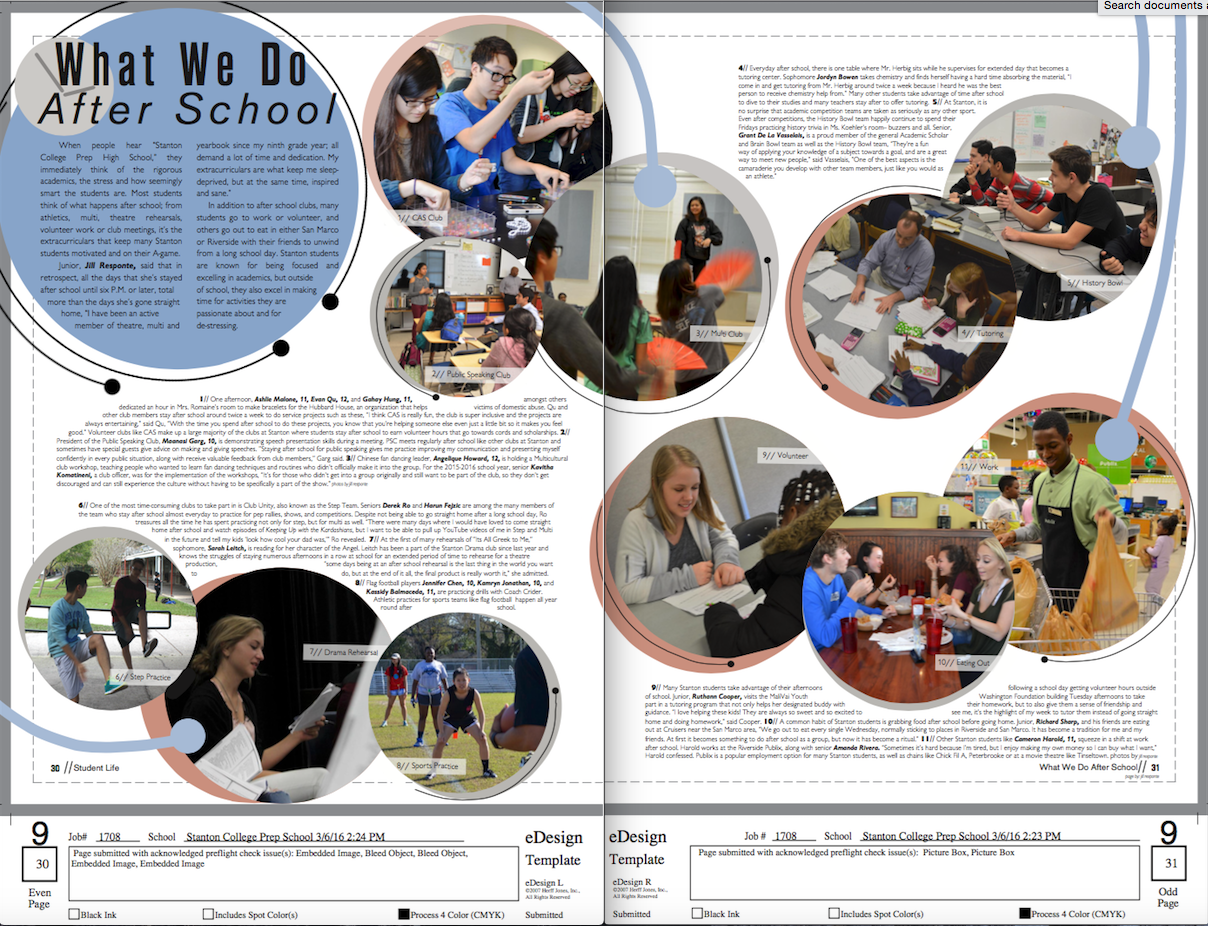 What We Do Afterschool Page. #yearbook #layout #design ...