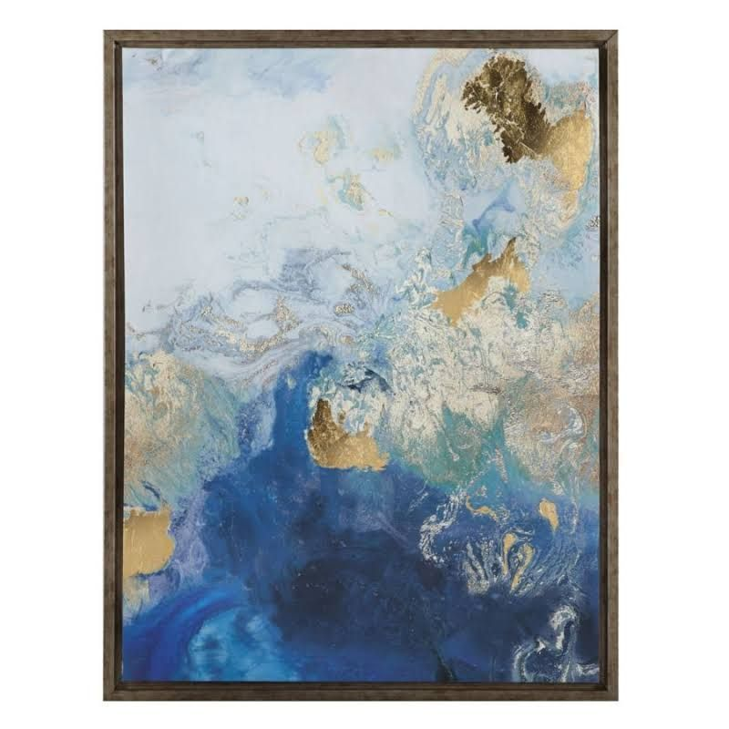 Wall Art - u0027Golden Splash 2 by Z Gallerie  sc 1 st  Pinterest & Wall Art - u0027Golden Splash 2 by Z Gallerie | art | Pinterest