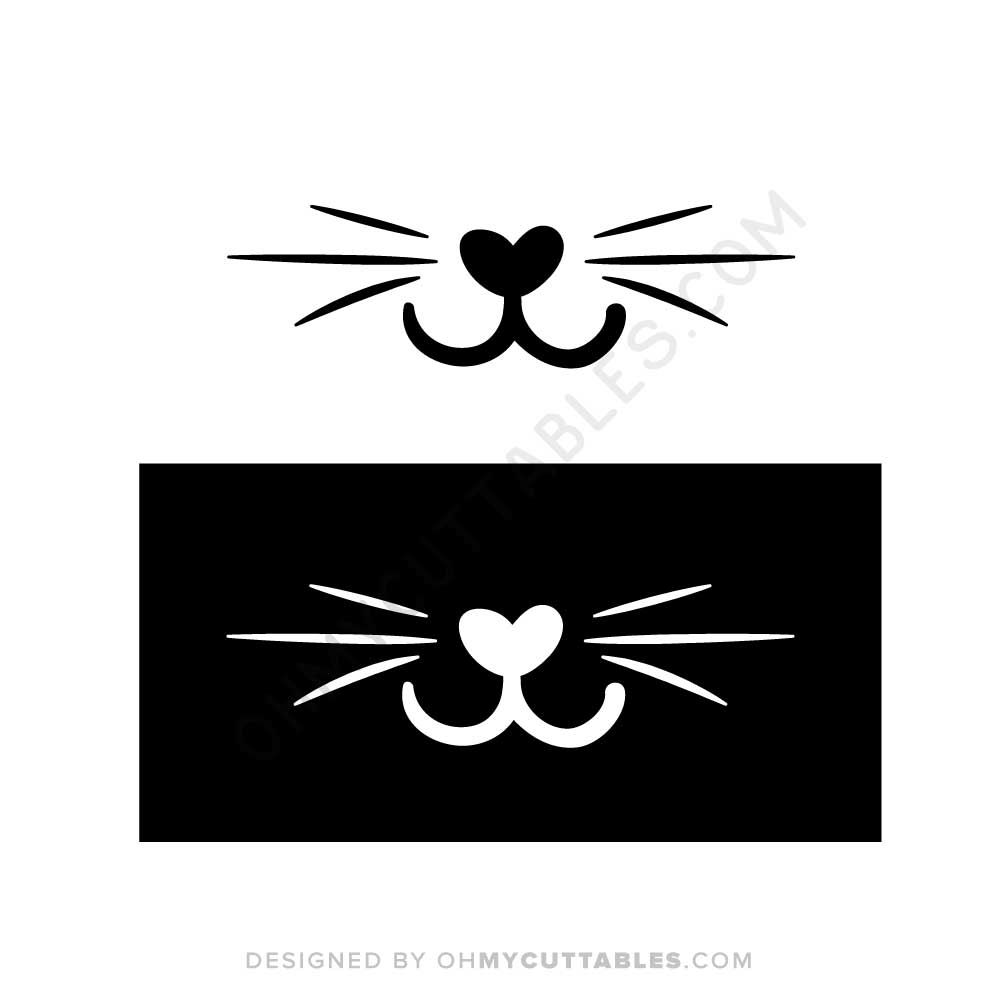 Free Cat Whiskers Svg File Ohmycuttables Free Cats Cat Whiskers Free Svg