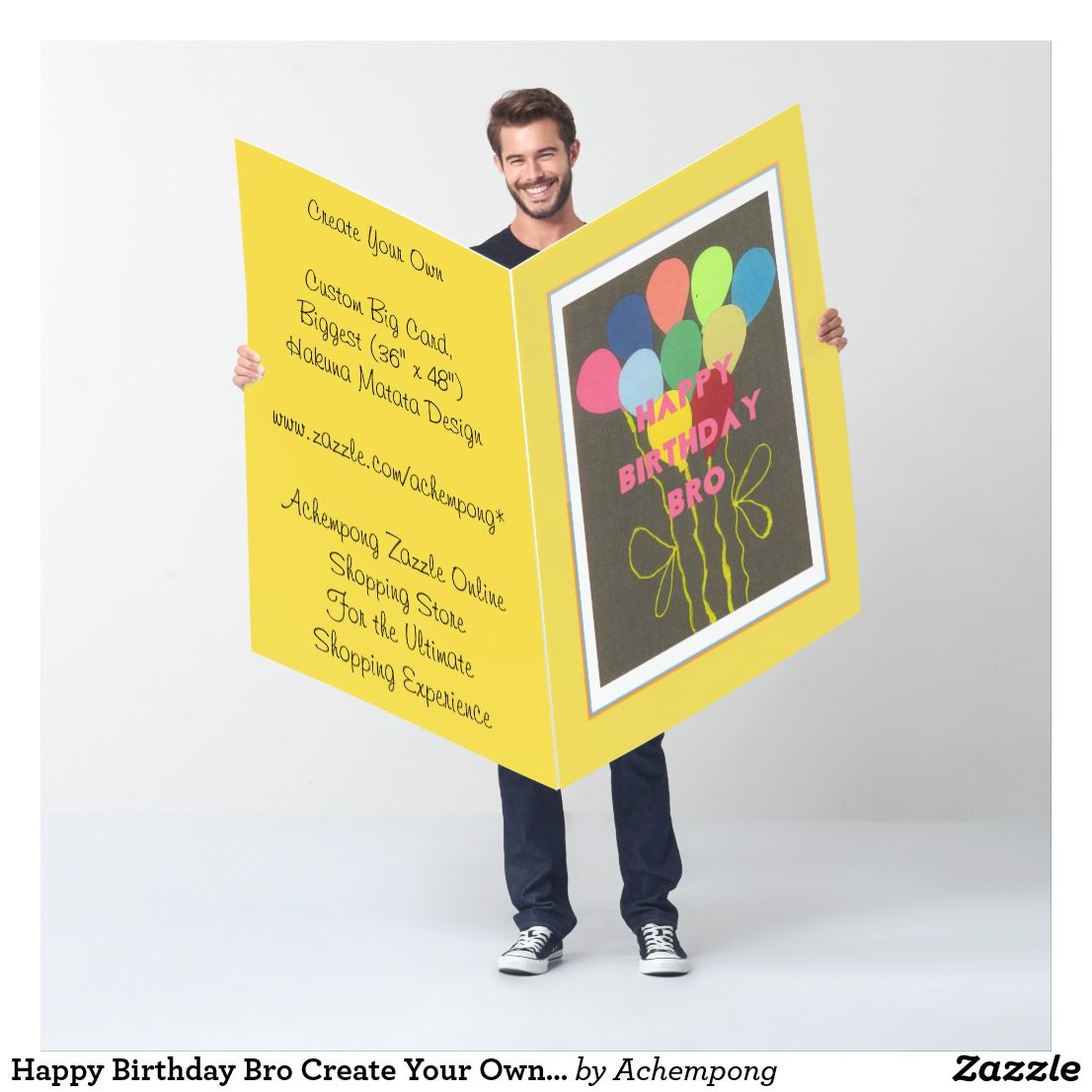 Happy Birthday Bro Create Your Own Text And Image Card Pinterest Bro