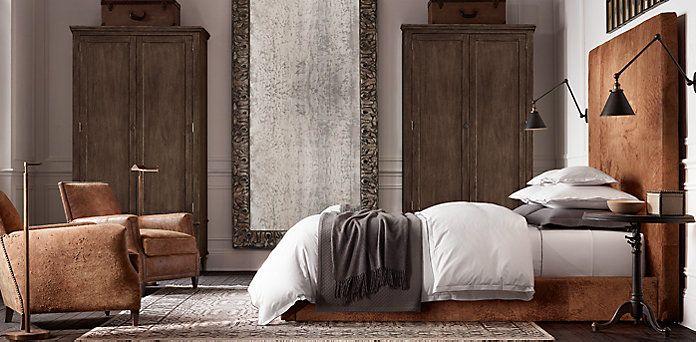 RHu0027s Sullivan Leather Bed Restoration Hardware · Home BedroomBedroom  SetsBedroom ...