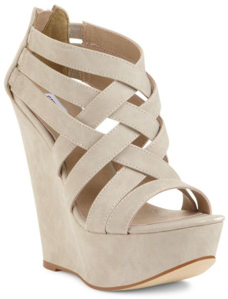775f37a0b Platform Wedge Sandals | Steve Madden Xcess Platform Wedge Sandals in Beige  (bone) - Lyst