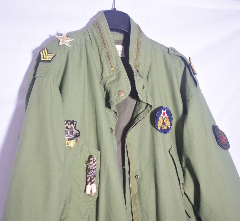 Vintage Military Jacket With Patches Product Images Of Vintage Military Jacket Military Jacket Military Style Jackets