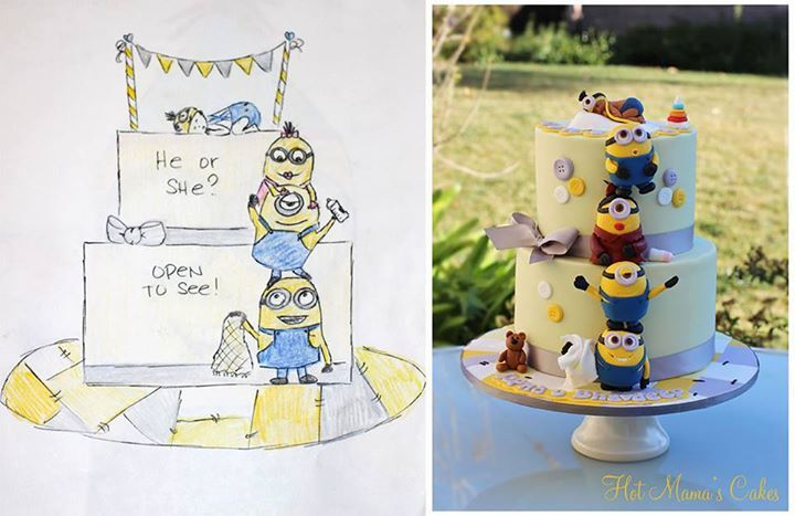 minion baby shower cake