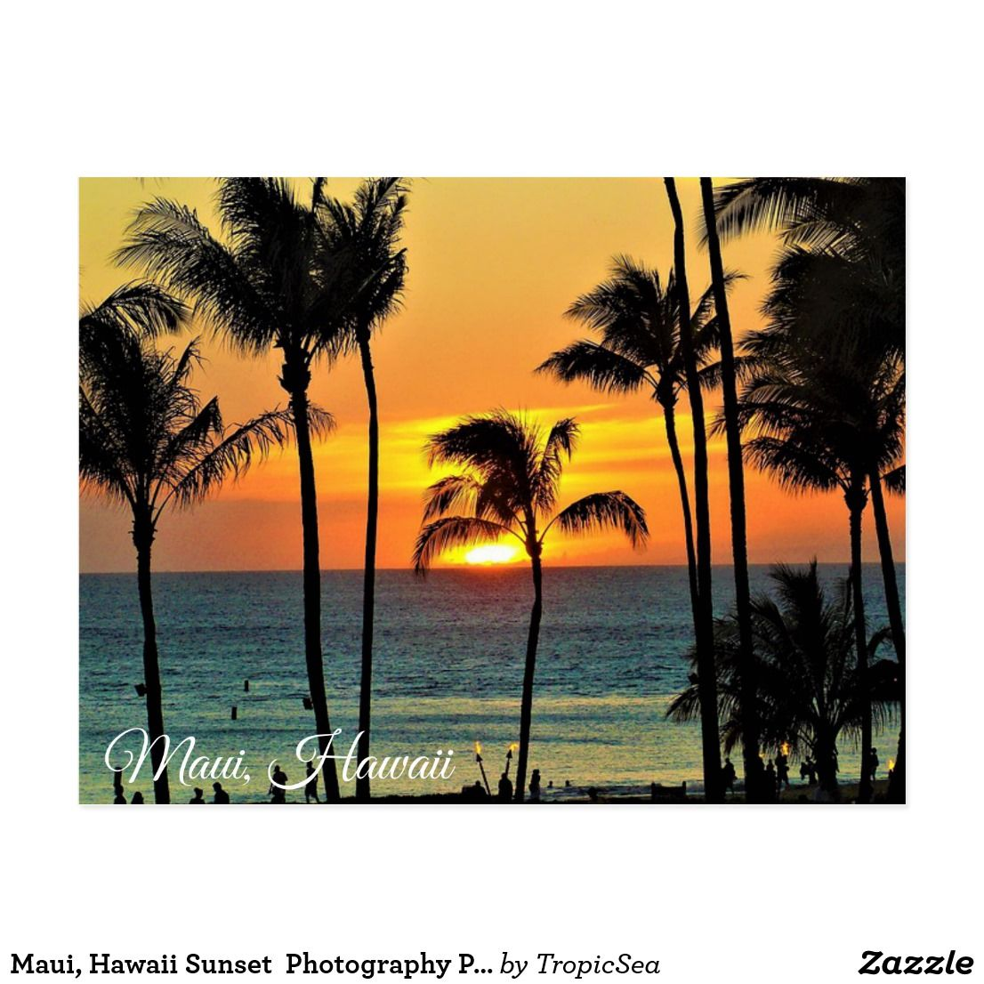 Maui Hawaii Sunset Photography Postcard  Maui Hawaii Hawaii And