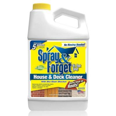 Spray Forget 64 Oz House And Deck No Rinse Eco Friendly Exterior Cleaner Concentrate Makes Up To 5 Gal With Images Deck Cleaner House Deck Roof Cleaning