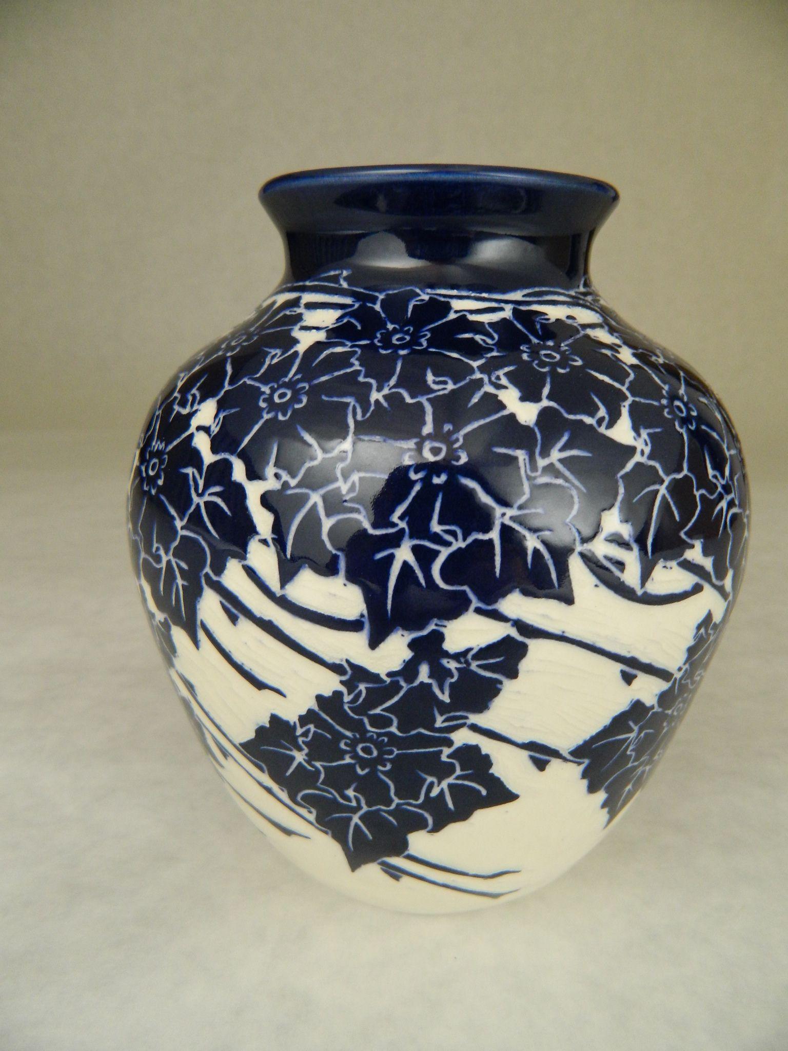 Wild Rose Vase by Ken Tracy
